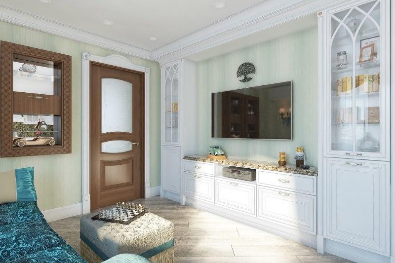 La conception du salon dans la cuisine-salon