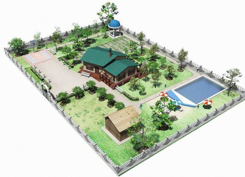 15 hektāru liela zemes gabala ar baseinu dizaina projekts
