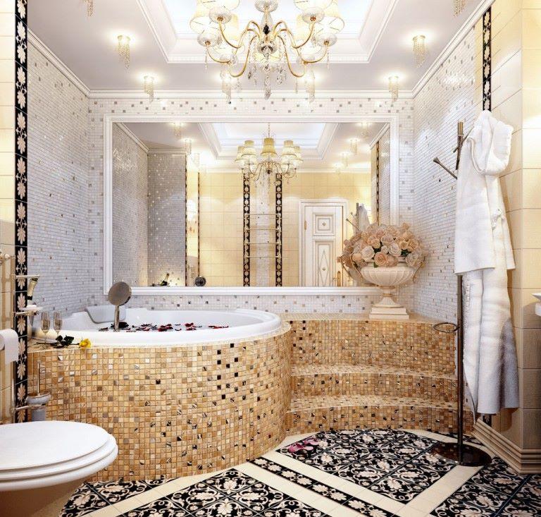Vannas istabas interjera mozaīkas rotājums