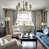 Klasiskā stila viesistabas rotājums