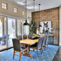 Design living room with brick wall in the interior