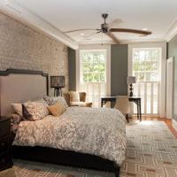 Bedroom design in gray shades