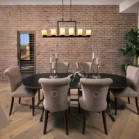 Brick dining table for the whole family