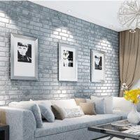Gray living room interior with sofa