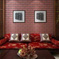 Imitation brick paper wallpaper