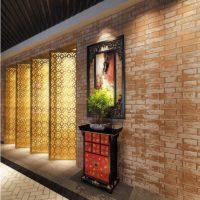 Wall with masonry wallpaper