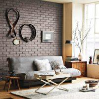 Brick wall decor with original items