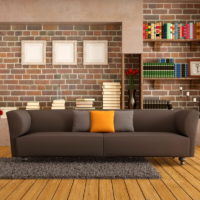 Decorating wall niches with brick wallpaper