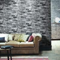 Brick walls in a modern interior