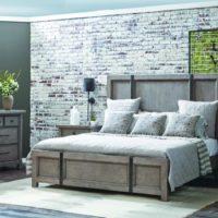 Design bedroom in vintage style.