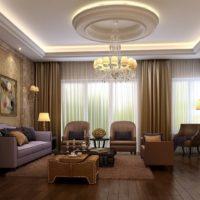LED stropna svjetla u dnevnoj sobi