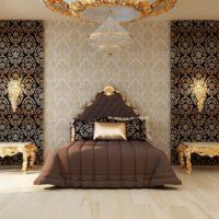 Tamni krevet u dizajnu spavaće sobe