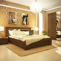 Luster u obliku kuglice u unutrašnjosti spavaće sobe