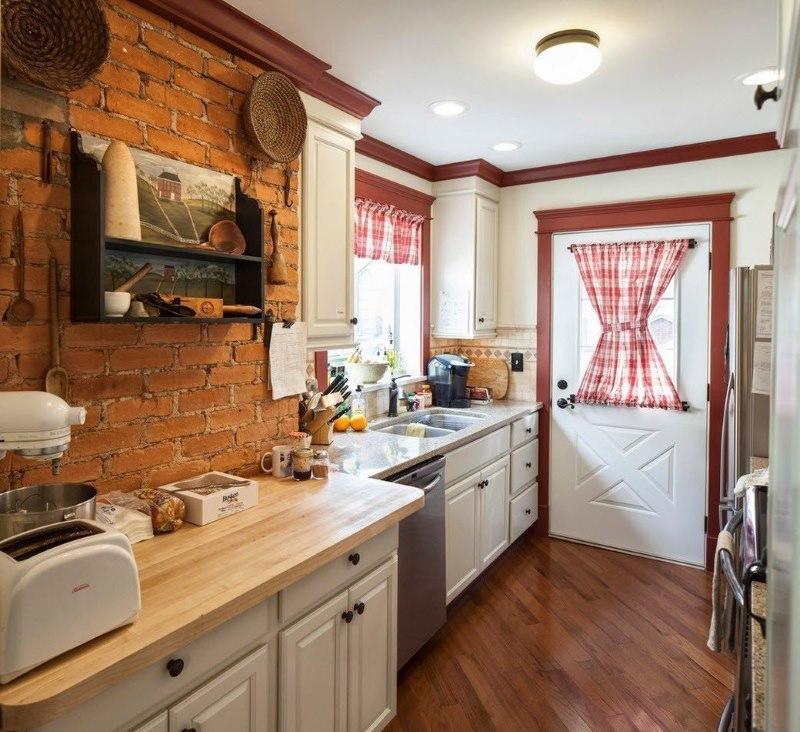 Intérieur d'une cuisine de passage dans une maison privée