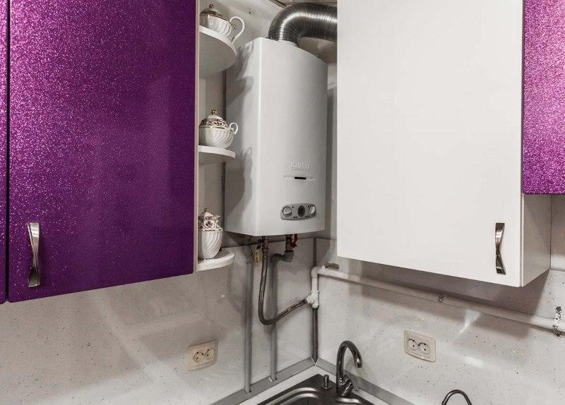Chaudière à gaz dans le coin de la cuisine