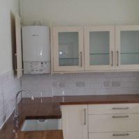 Armoires de cuisine avec portes en verre