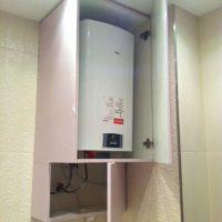Armoire de bricolage en aggloméré pour équipement à gaz