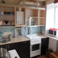 Armoires de cuisine faites maison pour l'équipement de gaz masqué