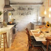 Plantes vivantes dans la décoration de l'espace cuisine