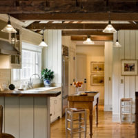 Le bois dans la conception de l'espace cuisine