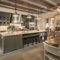 Nuances de gris dans le décor de la cuisine
