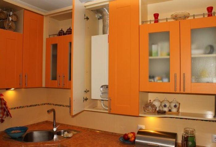 L'emplacement de la chaudière à gaz dans la cuisine