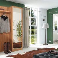 Lauku mājas gaitenis ar zaļām sienām