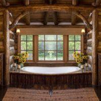 Vannas istaba koka mājā