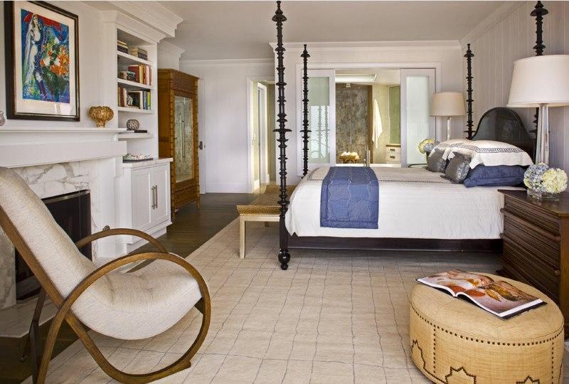 Privātmājas guļamistabas dizains neoklasicisma stilā