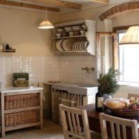 Intérieur de cuisine de style rustique