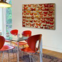 Zonage d'une place pour une table à manger avec un tapis