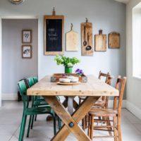 Table à lunch en bois de style rétro