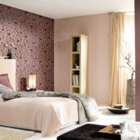 Комбинацията от тапети в интериора на модерна спалня
