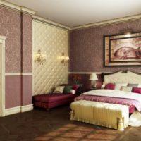 Винилови тапети в дизайна на спалнята