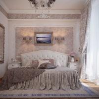 Декориране на стена над главата на леглото с картина