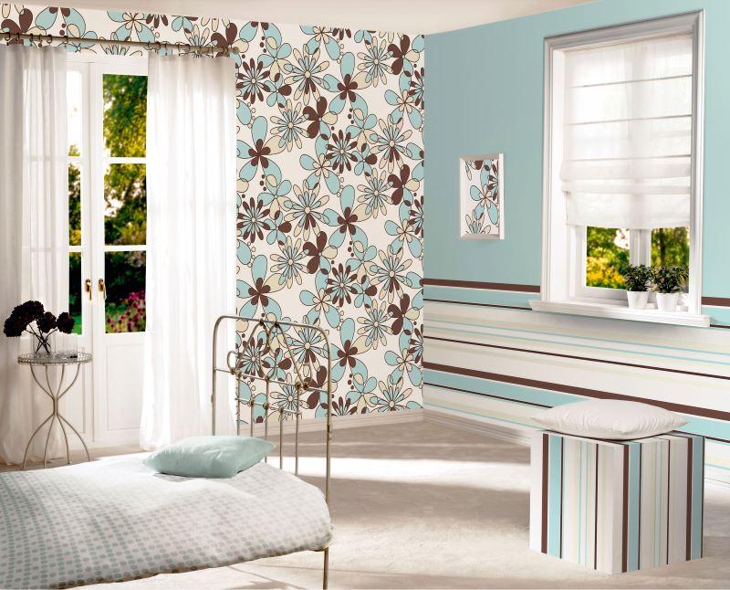 Спалня в сини тонове в селска къща