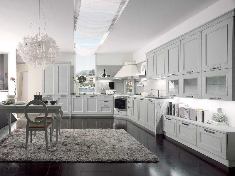 Virtuves interjers pasteļtoņos