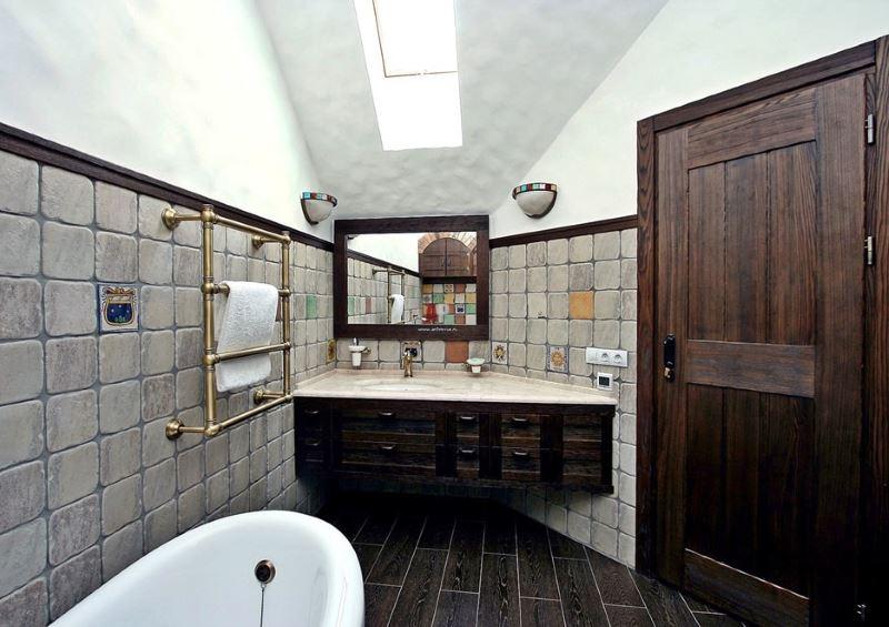 Vācu stila vannas istabas interjers