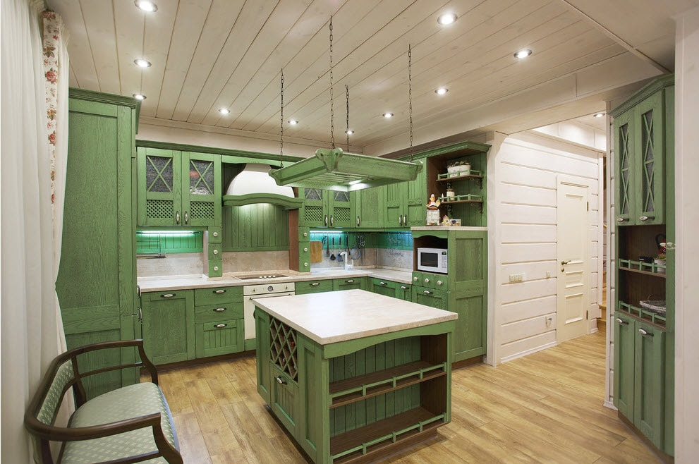 Design de cuisine de maison privée rustique