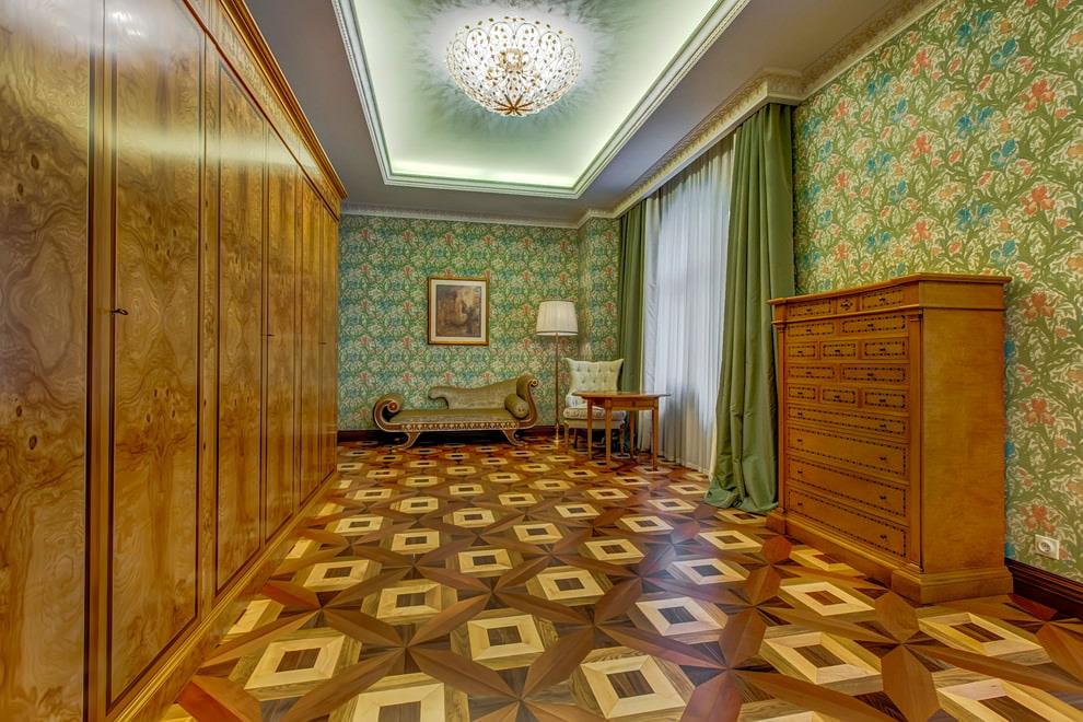 Brown dans la conception d'un salon classique