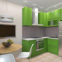 Conception de cuisine avec éclairage de plafond