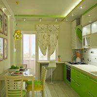 Plafond à deux niveaux dans une cuisine moderne