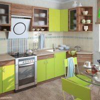 Set de cuisine marron vert