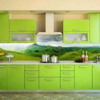 Définir pour une cuisine avec une disposition linéaire