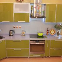 meuble de cuisine avec façades en aluminium