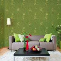 Gray sofa with colorful pillows