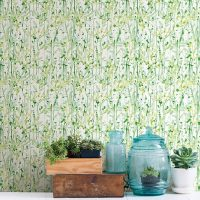 Wall paper wallpaper with floral print