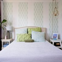 Bright bedroom in pastel colors