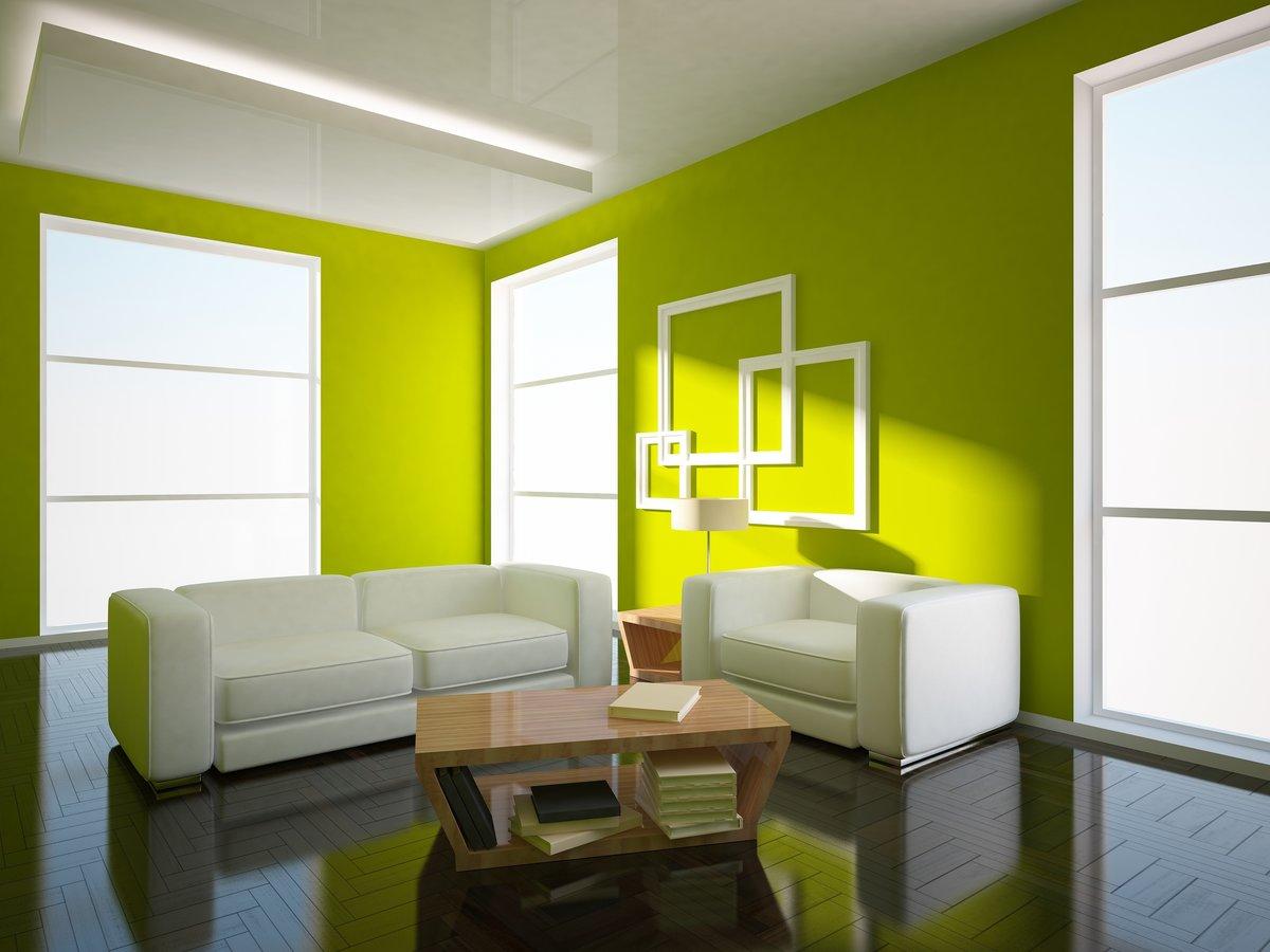 White upholstered furniture on a dark floor
