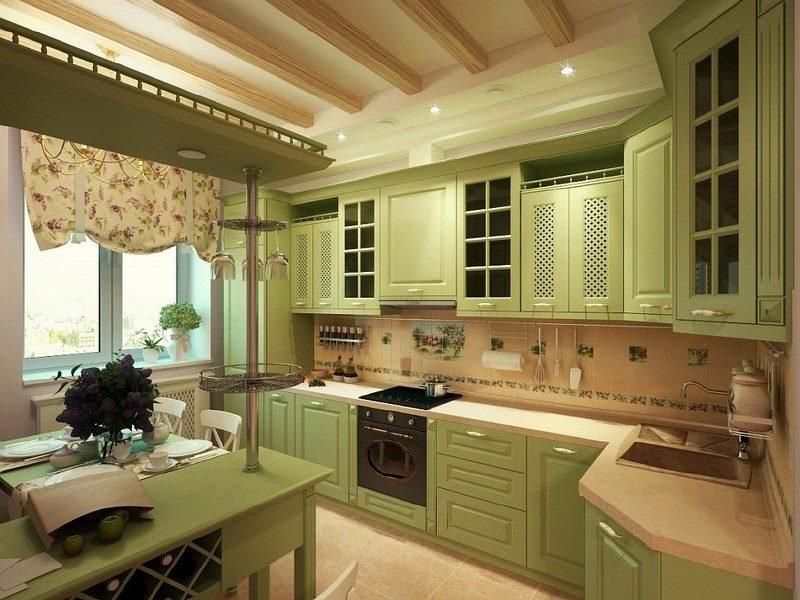 Rustic style kitchen interior